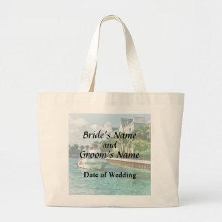 Bahamas - Ferry to Paradise island Wedding Product Large Tote Bag