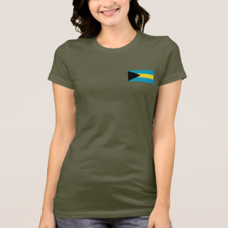 Bahamas Flag and Map dk T-Shirt
