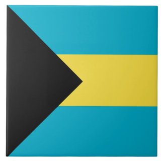 Bahamas Flag Large Square Tile