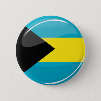 Bahamas Flag Round and Glossy 6 Cm Round Badge