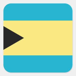 Bahamas Flag Square Sticker