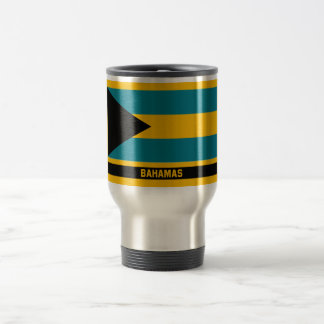 Bahamas Flag Travel Mug