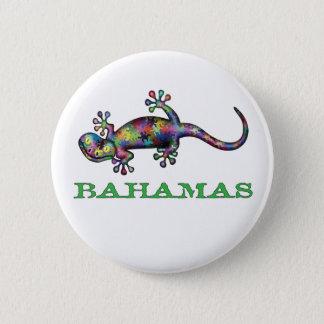 Bahamas gecko 6 cm round badge