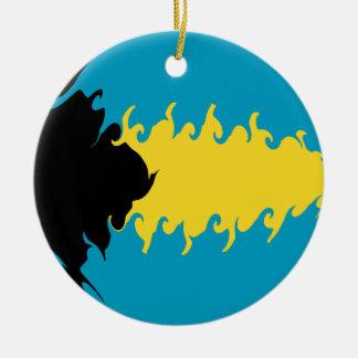 Bahamas Gnarly Flag Ornament