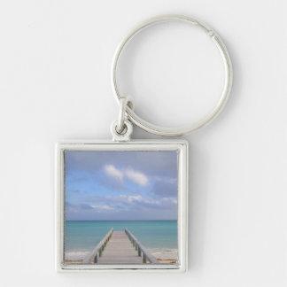 BAHAMAS, Grand Bahama Island, Eastern Side: Silver-Colored Square Key Ring