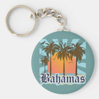 Bahamas Islands Beaches Key Ring
