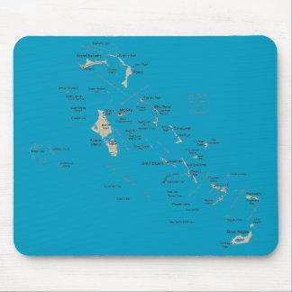 Bahamas Map Mousepad