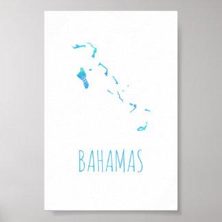 Bahamas Map Poster