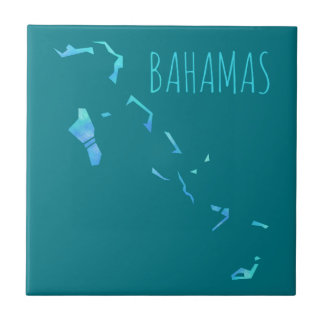 Bahamas Map Small Square Tile