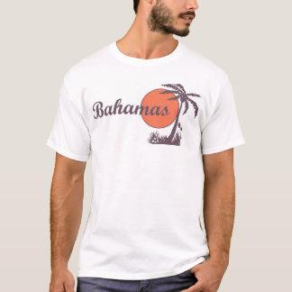 Bahamas Retro Tourist Palm Tee
