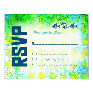 BAHAMAS RSVP Linen Paper Card