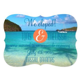 Bahamas We Eloped/Reception Invite