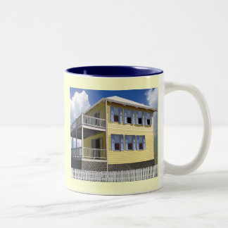 Bahamian House Two-Tone Coffee Mug