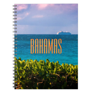 Bahamian Ocean View Spiral Note Book
