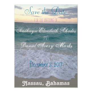 Bahamian Sunset Save the Date Magnet Magnetic Invitations