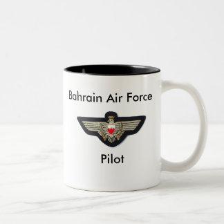 Baharaini Pilot Wings, Bahrain Air Force, Pilot Two-Tone Coffee Mug