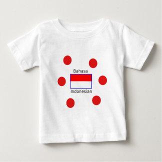 Bahasa Language And Indonesian Flag Design Baby T-Shirt