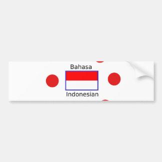 Bahasa Language And Indonesian Flag Design Bumper Sticker