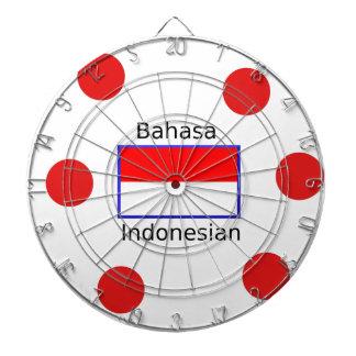 Bahasa Language And Indonesian Flag Design Dartboard