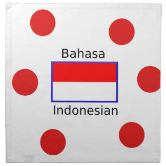Bahasa Language And Indonesian Flag Design Napkin