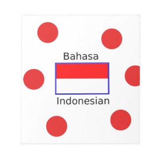 Bahasa Language And Indonesian Flag Design Notepad