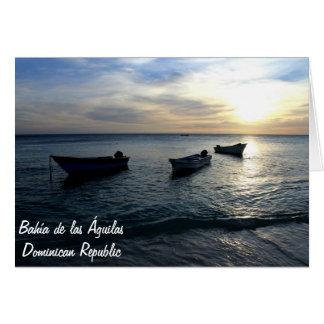 Bahía de las Águilas in Dominican Republic Greeting Card