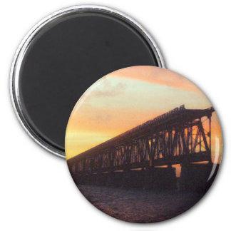 Bahia Honda Rail Bridge 6 Cm Round Magnet
