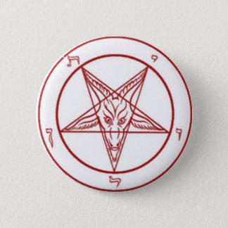Bahpomet pentagram Round Button