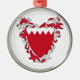 Bahrain Coat Of Arms Metal Ornament