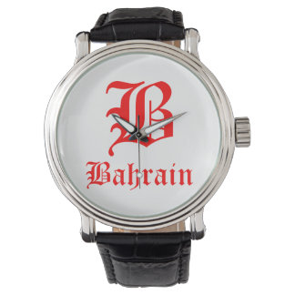 Bahrain Custom Black Vintage Leather Watch