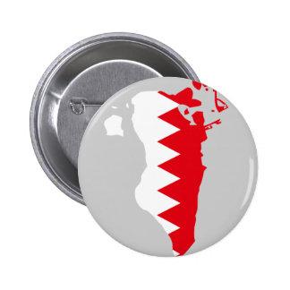 Bahrain flag map 6 cm round badge