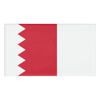 Bahrain Flag Name Tag