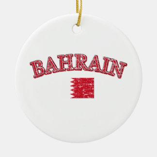 Bahrain football design ceramic ornament