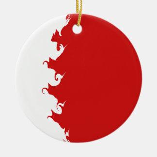 Bahrain Gnarly Flag Ornaments