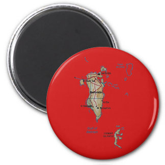 Bahrain Map Magnet