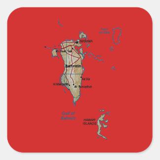 Bahrain Map Sticker