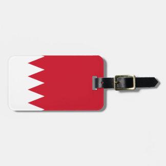Bahrain National World Flag Luggage Tag