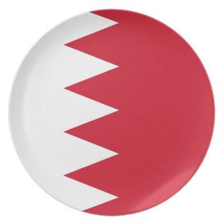 Bahrain National World Flag Plate