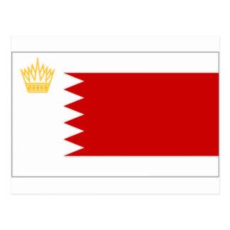 Bahrain Royal Standard Flag Postcard