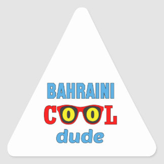 Bahraini Cool Dude Triangle Sticker