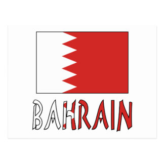 Bahraini Flag and Bahrain Postcard