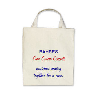 Bahre's Cure Cancer Concerts grocery bag