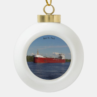 Baie St. Paul port ball or snowflake ornament