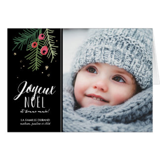 Baies Rouges   Joyeux Noël Card
