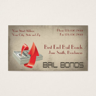 Bail Bonds Bondsmen Business Card