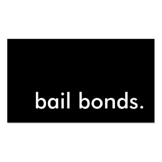 bail bonds. business card templates