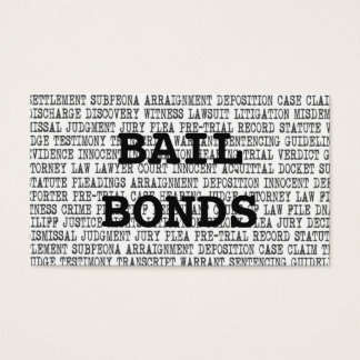 Bail Bonds Legal Words Business Card