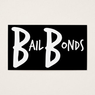 Bail Bonds Simple Business Card