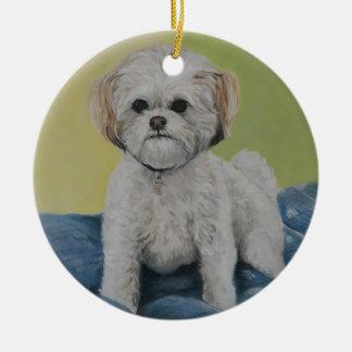 Bailey Bichon/shihtzu Art Ornament