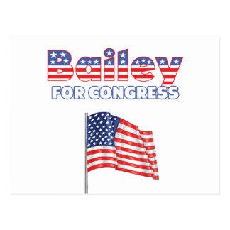 Bailey for Congress Patriotic American Flag Design Postcard